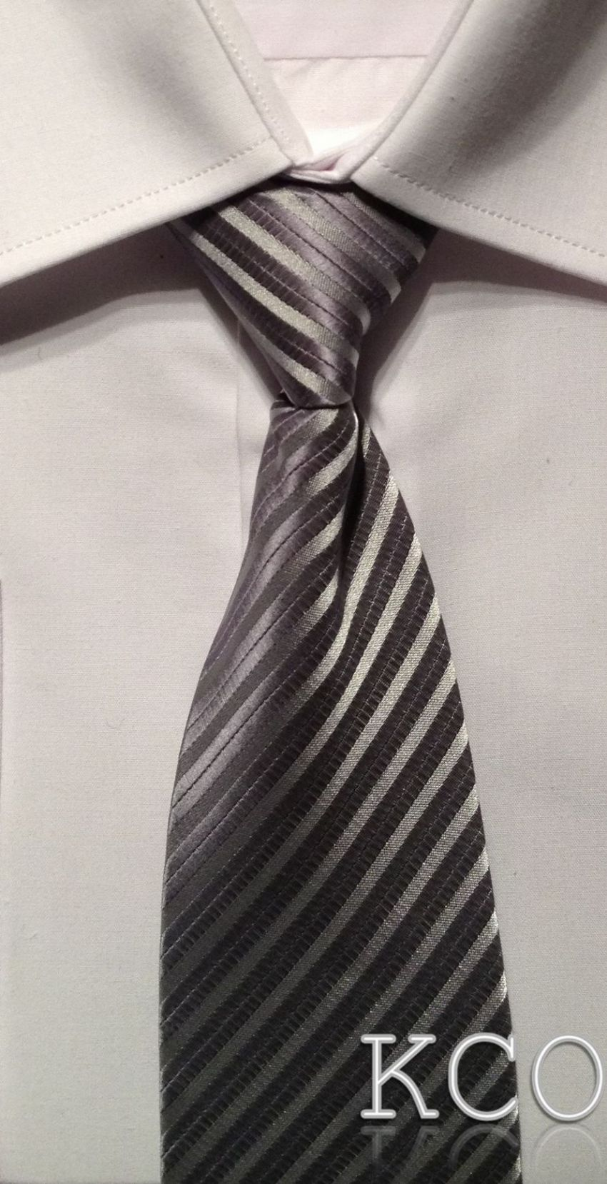 Elasticated Tie~ Style MS001E Silver